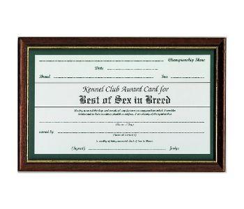 Best of Sex Certificate Frame
